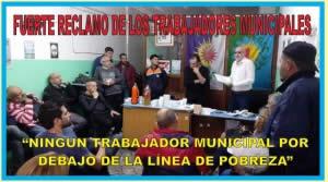 FUERTE RECLAMO DE TRABAJADORES MUNICIPALES MATANCEROS
