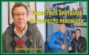 """""""NOSOTROS APOYAMOS EL PROYECTO PERONISTA"""""""