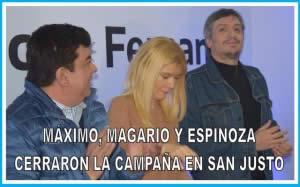 MÁXIMO, MAGARIO Y ESPINOZA CERRARON LA CAMPAÑA EN SAN JUSTO