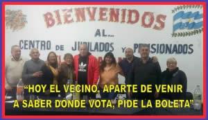 """""""HOY EL VECINO APARTE DE VENIR A SABER DÓNDE VOTA, PIDE LA BOLETA"""""""