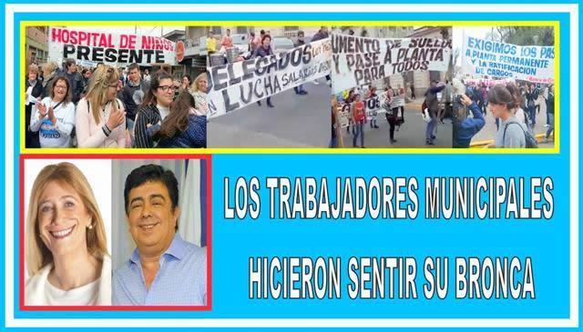LOS TRABAJADORES MUNICIPALES HICIERON SENTIR SU BRONCA