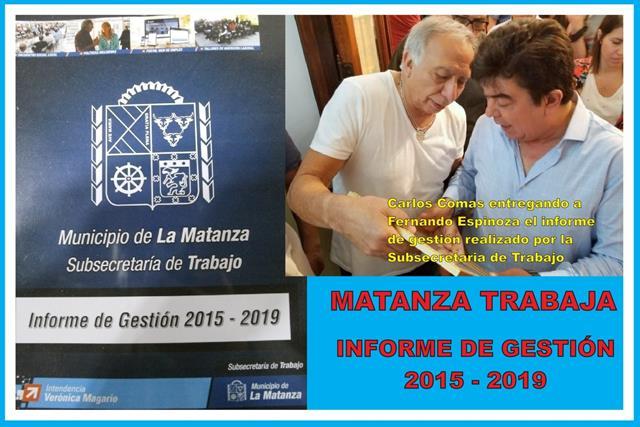MATANZA TRABAJA: EL BALANCE DE LOS PRIMEROS CUATRO AÑOS DE SUBSECRETARÍA DE TRABAJO