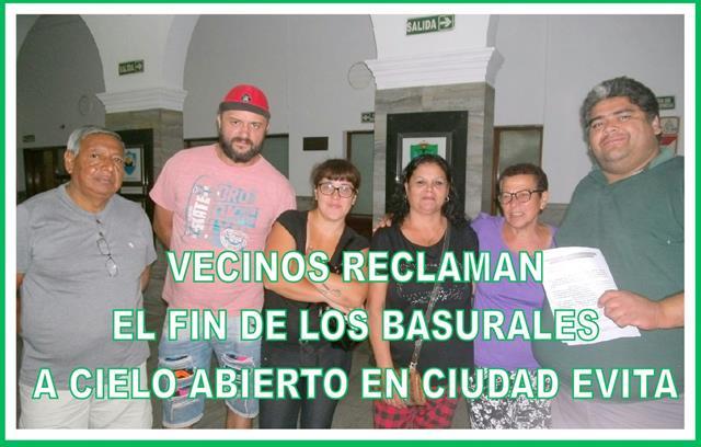 """""""VECINOS RECLAMAN EL FIN DE LOS BASURALES A CIELO ABIERTO EN CIUDAD EVITA"""""""