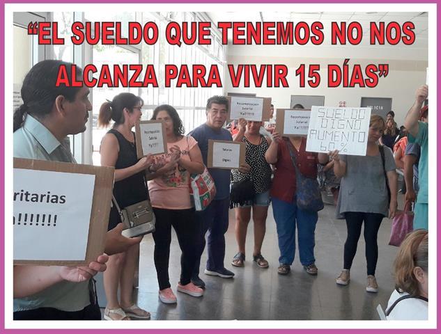 """""""EL SUELDO QUE TENEMOS NO NOS ALCANZA PARA VIVIR 15 DÍAS"""""""