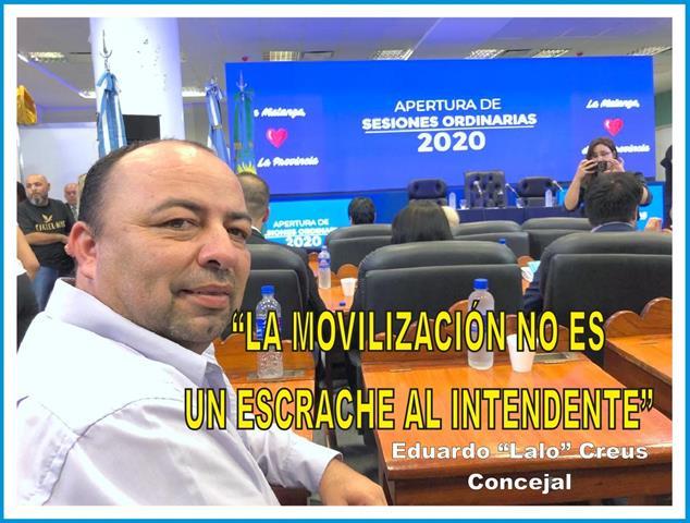 """""""LA MOVILIZACIÓN NO ES UN ESCRACHE AL INTENDENTE"""""""