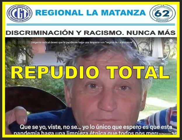 FUERTE REPUDIO ANTE DECLARACIONES DISCRIMINACIONES Y RACISTAS