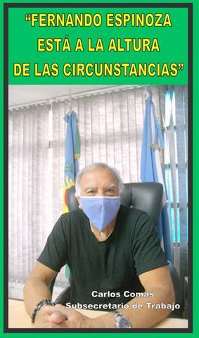 """""""FERNANDO ESPINOZA ESTÁ A LA ALTURA DE LA CIRCUNSTANCIA"""""""