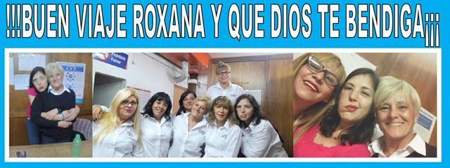 CONMOVEDORA DESPEDIDA DE LOS COMPAÑEROS DE ROXANA BUSICO