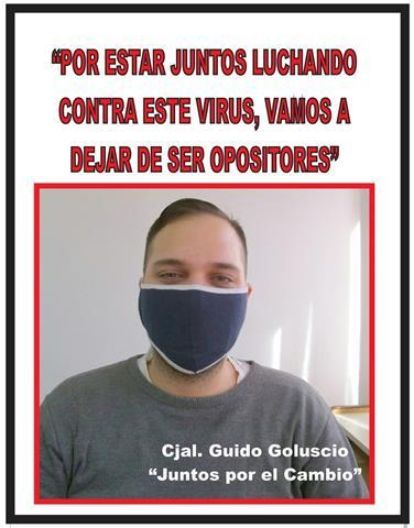 """""""POR ESTAR JUNTOS LUCHANDO CONTRA ESTE VIRUS, NO VAMOS A DEJAR DE SER OPOSITORES"""""""
