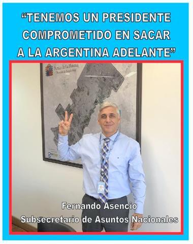 """""""TENEMOS UN PRESIDENTE COMPROMETIDO EN SACAR A LA ARGENTINA ADELANTE"""""""