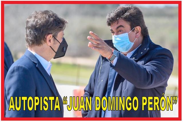 REACTIVACIÓN DE LAS OBRAS DE LA AUTOPISTA JUAN DOMINGO PERÓN