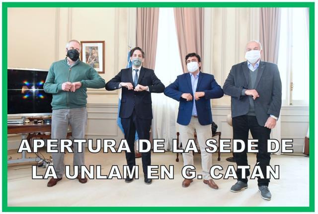 LA MATANZA, EL MINISTERIO DE EDUCACIÓN Y LA UNLAM YA TRABAJAN PARA ABRIR LA UNIVERSIDAD EN GONZÁLEZ CATÁN EN MARZO DE 2021
