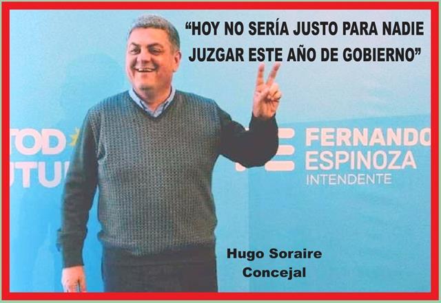 """""""HOY NO SERÍA JUSTO PARA NADIE JUZGAR ESTE AÑO DE GOBIERNO"""""""