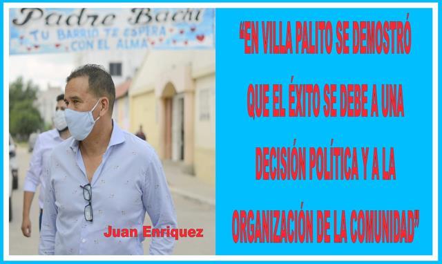 """""""EN VILLA PALITO SE DEMOSTRÓ QUE  EL ÉXITO SE DEBE A UNA DECISIÓN POLÍTICA Y A LA ORGANIZACIÓN DE LA COMUNIDAD"""""""