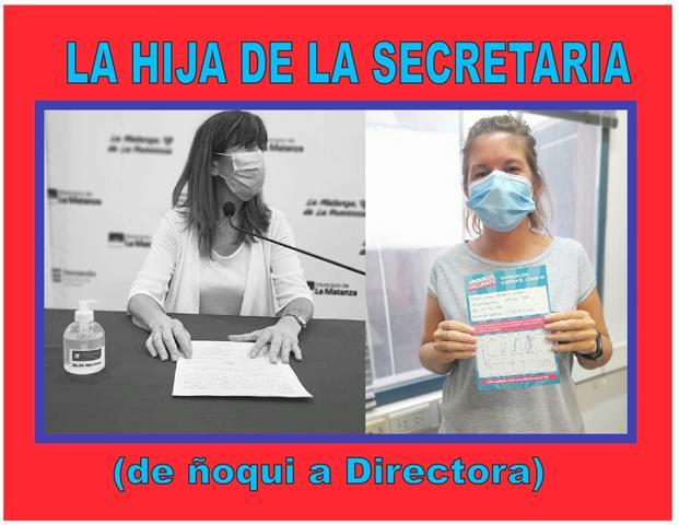 LA HIJA DE LA SECRETARIA: DE ÑOQUI A DIRECTORA