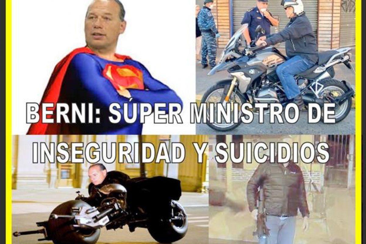 BERNI: SÚPER MINISTRO DE INSEGURIDAD Y SUICIDIOS