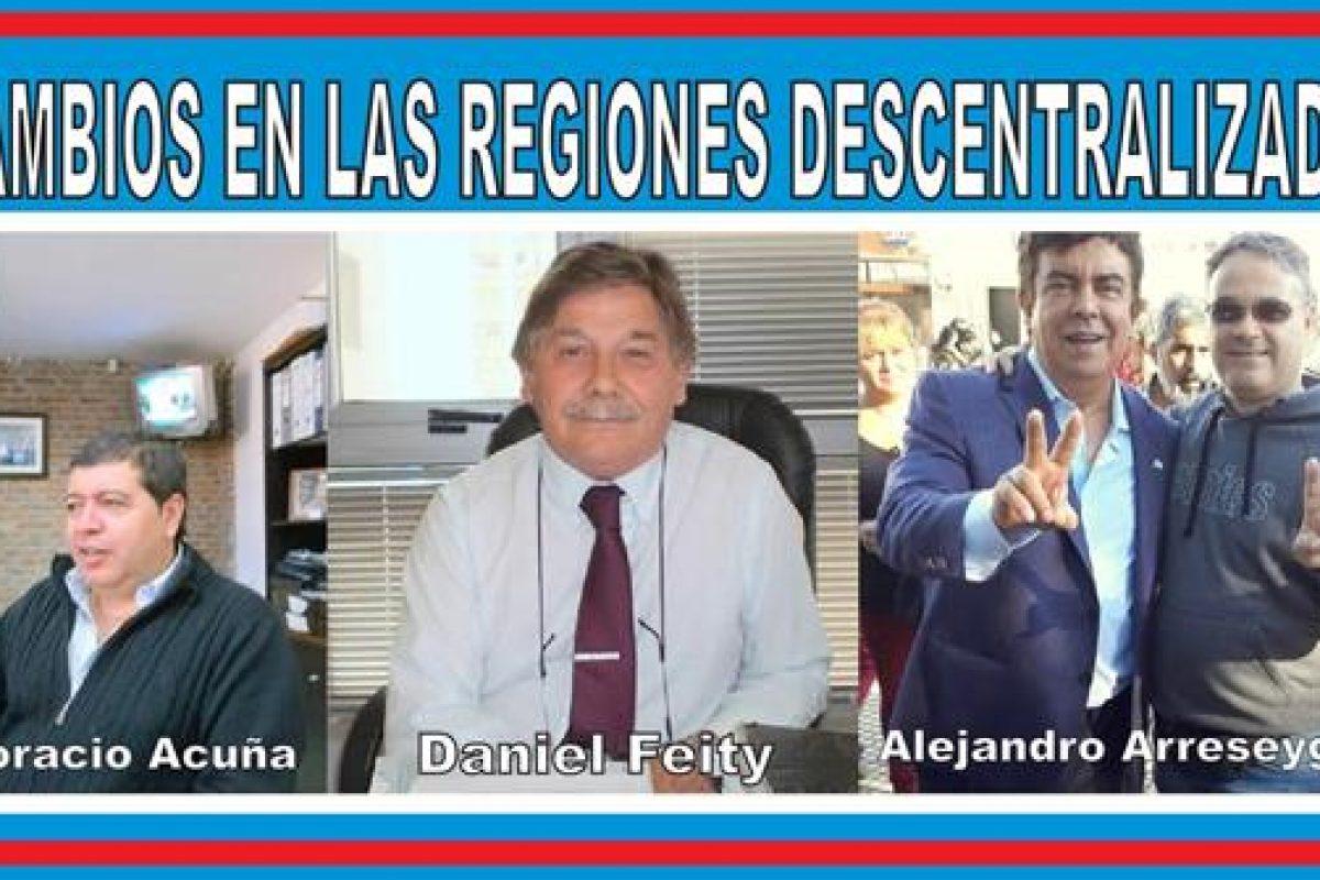CAMBIOS EN LAS REGIONES DESCENTRALIZADAS