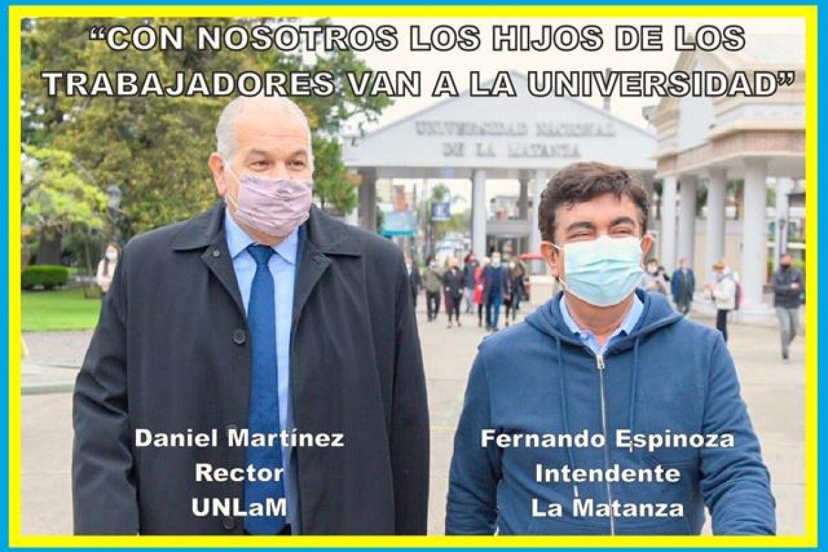 """""""CON NOSOTROS LOS HIJOS DE LOS TRABAJADORES VAN A LA UNIVERSIDAD"""""""