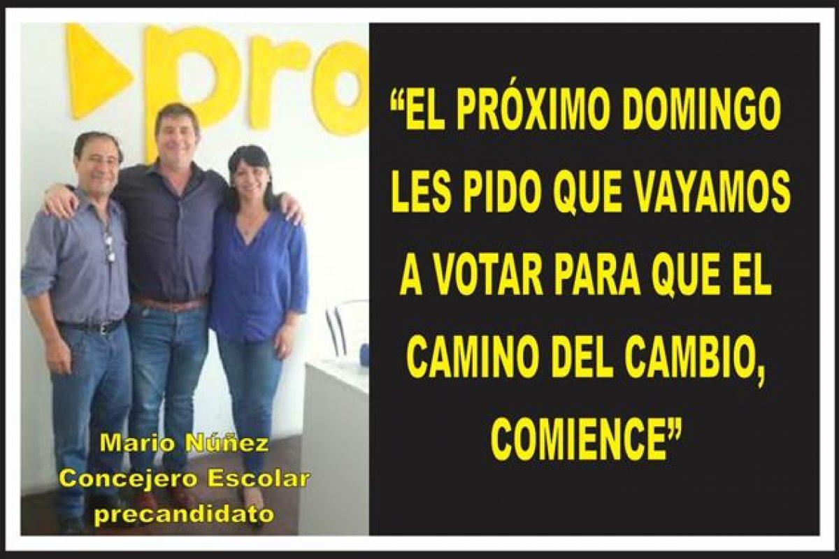 """""""EL PRÓXIMO DOMINGO LES PIDO QUE VAYAMOS A VOTAR PARA QUE EL CAMINO DEL CAMBIO, COMIENCE"""""""
