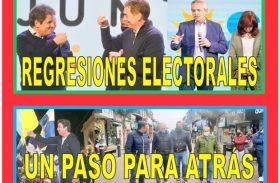 REGRESIONES ELECTORALES, UN PASO PARA ATRÁS