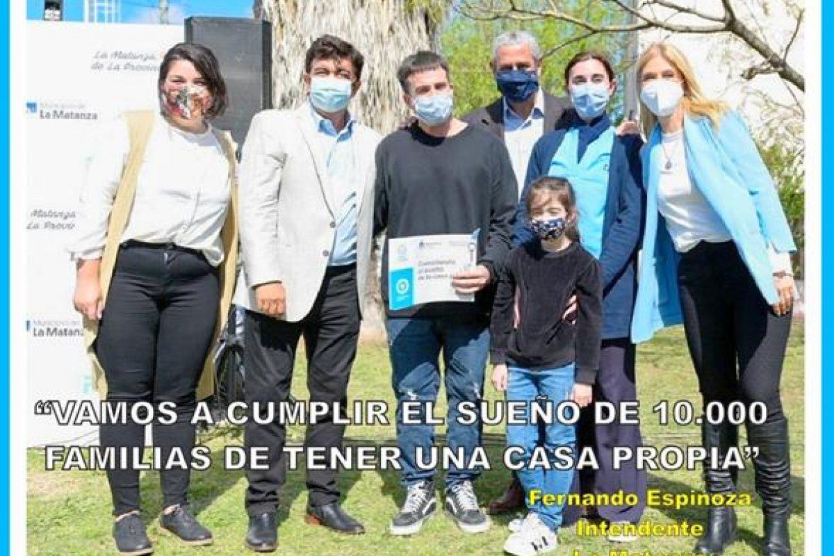 """""""VAMOS A CUMPLIR EL SUEÑO DE 10.000 FAMILIAS DE TENER UNA CASA PROPIA"""""""